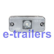 TRAILER FRONT LED CLEAR MARKER LIGHT LAMP - MAYPOLE MP8576 - 110 x 50 x 24 mm